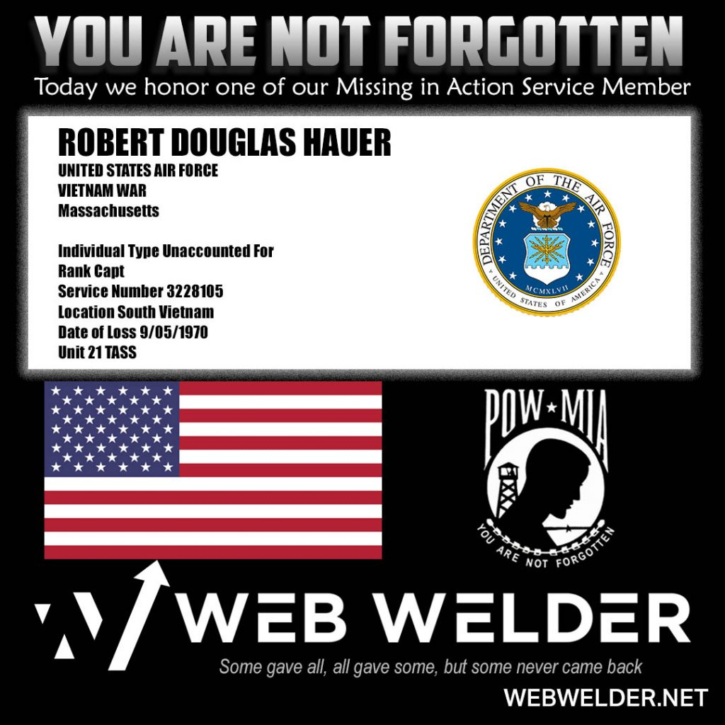 POW-MIA-ROBERT DOUGLAS HAUER