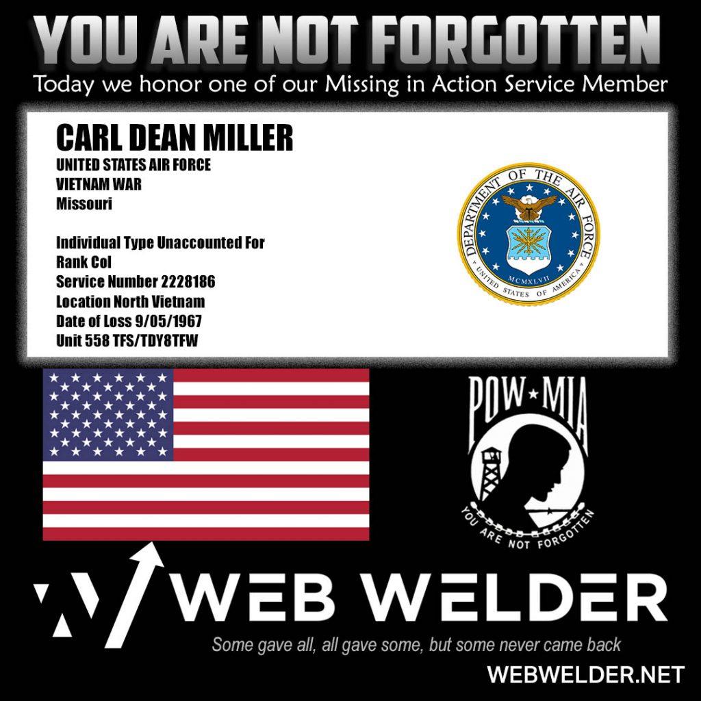 POW-MIA-CARL DEAN MILLER