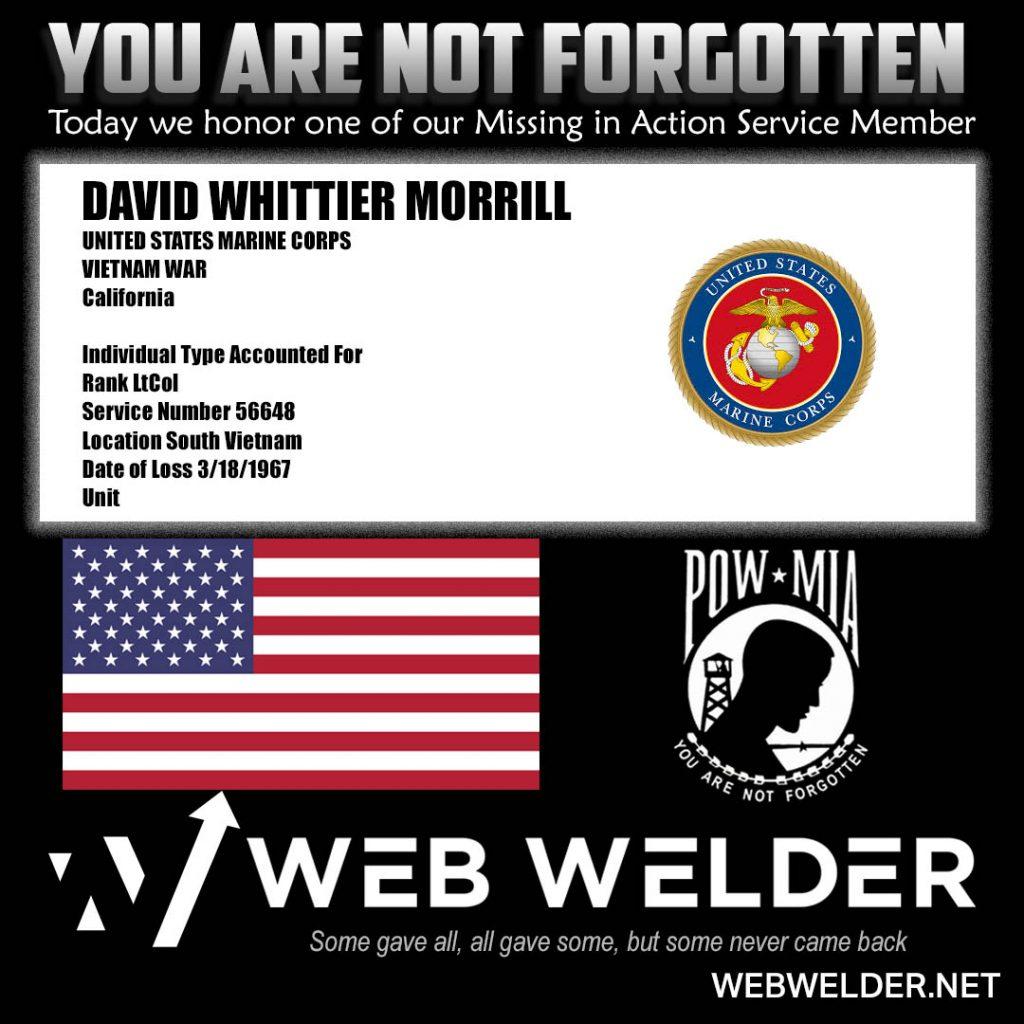 POW-MIA-DAVID WHITTIER MORRILL