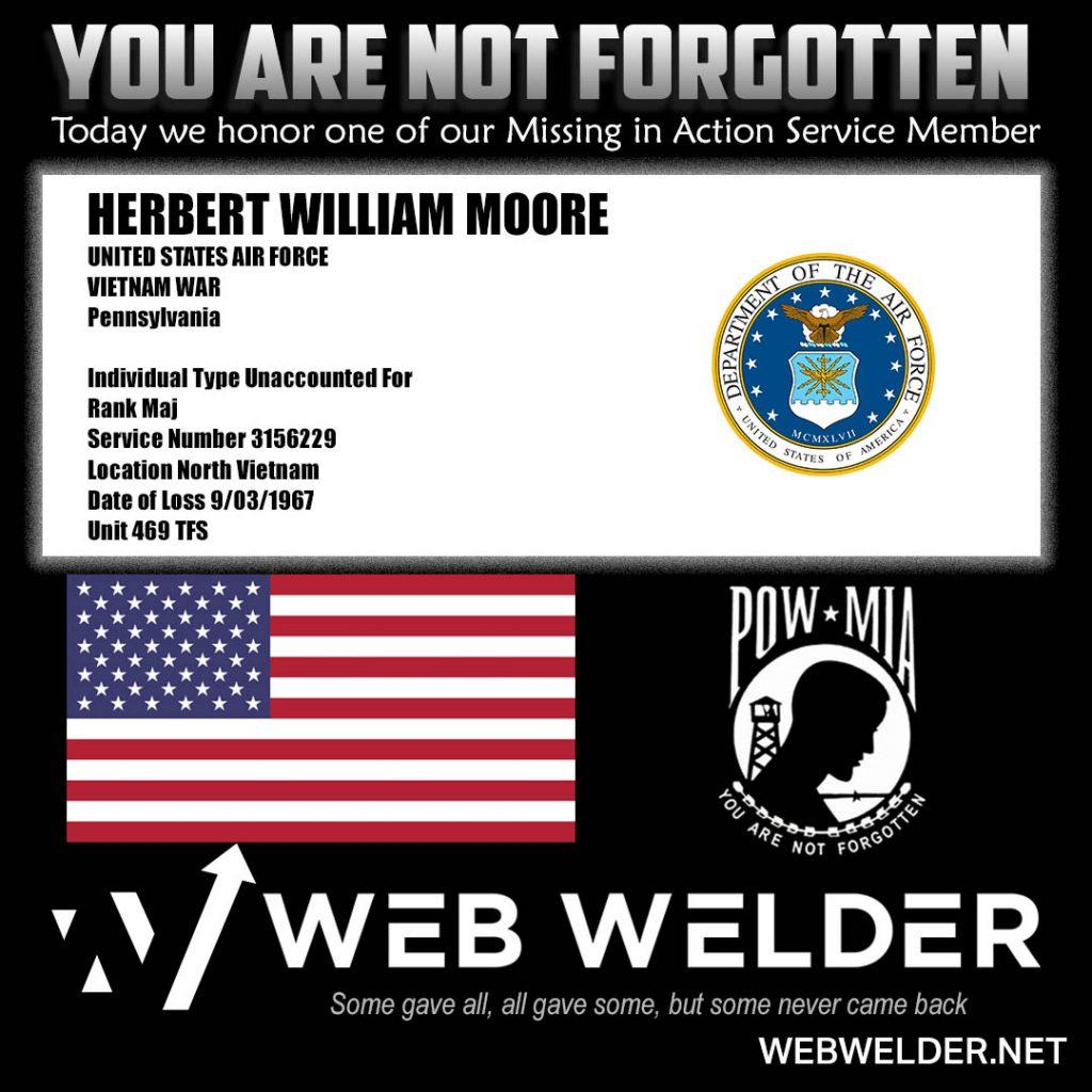 POW-MIA-HERBERT WILLIAM MOORE