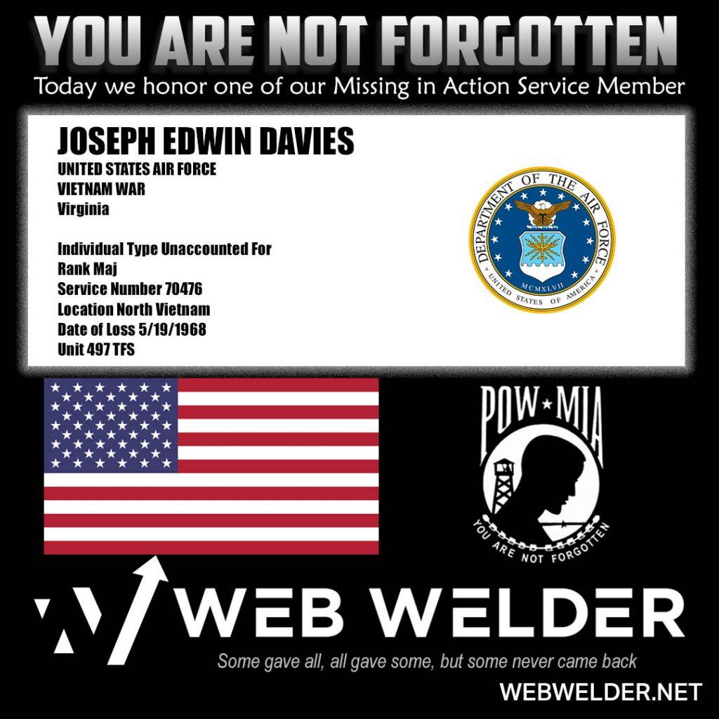 POW-MIA-JOSEPH EDWIN DAVIES